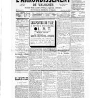 Le Journal de l'arrondissement de Valognes, numéro du 16 novembre 1935