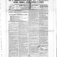 Le Journal de l'arrondissement de Valognes, numéro du 25 septembre 1885