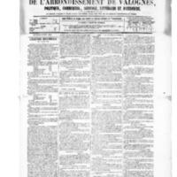 Le Journal de l'arrondissement de Valognes, numéro du 12 juin 1885