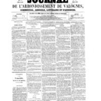 Le Journal de l'arrondissement de Valognes, numéro du 21 mai 1858