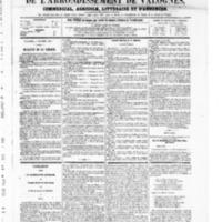 Le Journal de l'arrondissement de Valognes, numéro du 04 octobre 1867