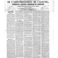 Le Journal de l'arrondissement de Valognes, numéro du 20 mai 1859