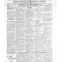 Le Journal de l'arrondissement de Valognes, numéro du 19 mars 1909