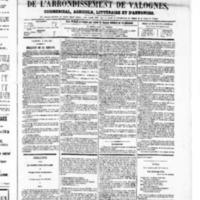 Le Journal de l'arrondissement de Valognes, numéro du 03 mai 1867