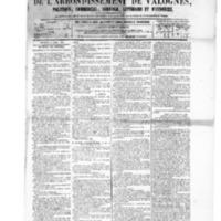 Le Journal de l'arrondissement de Valognes, numéro du 03 avril 1885
