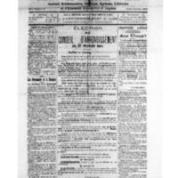 Le Journal de l'arrondissement de Valognes, numéro du 16 février 1924