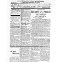 Le Journal de l'arrondissement de Valognes, numéro du 08 octobre 1932