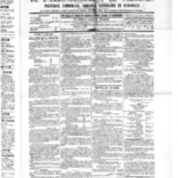 Le Journal de l'arrondissement de Valognes, numéro du 13 août 1886