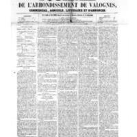 Le Journal de l'arrondissement de Valognes, numéro du 24 juin 1859