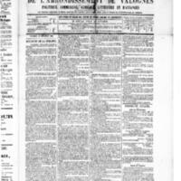Le Journal de l'arrondissement de Valognes, numéro du 10 décembre 1886