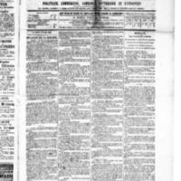 Le Journal de l'arrondissement de Valognes, numéro du 19 mars 1886