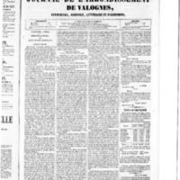 Le Journal de l'arrondissement de Valognes, numéro du 05 mars 1852