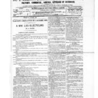 Le Journal de l'arrondissement de Valognes, numéro du 18 septembre 1885
