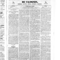 Le Journal de l'arrondissement de Valognes, numéro du 28 juin 1850