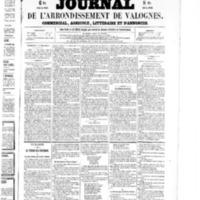 Le Journal de l'arrondissement de Valognes, numéro du 14 novembre 1856