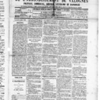 Le Journal de l'arrondissement de Valognes, numéro du 05 juillet 1889