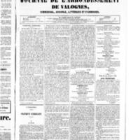 Le Journal de l'arrondissement de Valognes, numéro du 13 décembre 1850