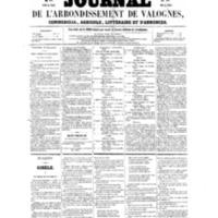 Le Journal de l'arrondissement de Valognes, numéro du 24 septembre 1858