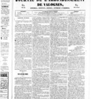 Le Journal de l'arrondissement de Valognes, numéro du 22 février 1850