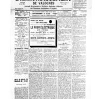 Le Journal de l'arrondissement de Valognes, numéro du 06 avril 1935