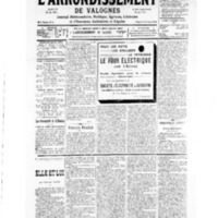 Le Journal de l'arrondissement de Valognes, numéro du 21 septembre 1935