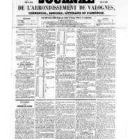 Le Journal de l'arrondissement de Valognes, numéro du 21 janvier 1859