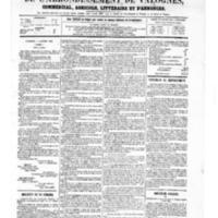 Le Journal de l'arrondissement de Valognes, numéro du 03 janvier 1868