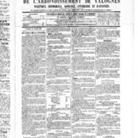 Le Journal de l'arrondissement de Valognes, numéro du 30 juillet 1886