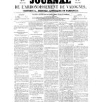 Le Journal de l'arrondissement de Valognes, numéro du 30 avril 1858