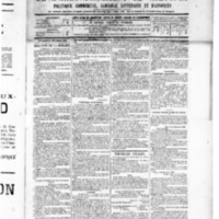 Le Journal de l'arrondissement de Valognes, numéro du 31 décembre 1886