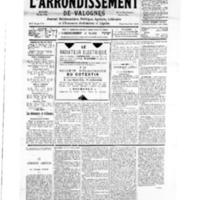 Le Journal de l'arrondissement de Valognes, numéro du 17 mars 1934