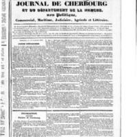 Le Journal de Cherbourg et du département de la Manche, numéro du 15 septembre 1833