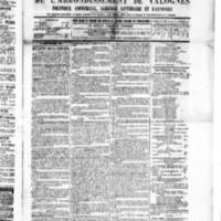 Le Journal de l'arrondissement de Valognes, numéro du 26 mars 1886