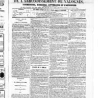 Le Journal de l'arrondissement de Valognes, numéro du 08 mars 1867