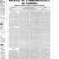 Le Journal de l'arrondissement de Valognes, numéro du 30 août 1850