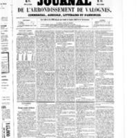 Le Journal de l'arrondissement de Valognes, numéro du 03 octobre 1856