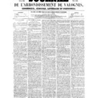 Le Journal de l'arrondissement de Valognes, numéro du 09 juillet 1858