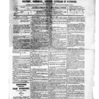 Le Journal de l'arrondissement de Valognes, numéro du 07 janvier 1881