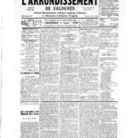 Le Journal de l'arrondissement de Valognes, numéro du 03 août 1935