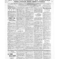 Le Journal de l'arrondissement de Valognes, numéro du 12 mars 1909