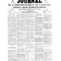 Le Journal de l'arrondissement de Valognes, numéro du 03 septembre 1858
