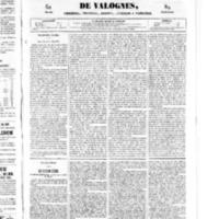 Le Journal de l'arrondissement de Valognes, numéro du 24 mai 1850