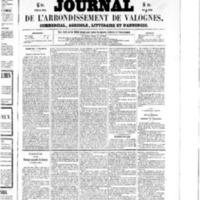 Le Journal de l'arrondissement de Valognes, numéro du 07 novembre 1856