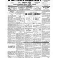 Le Journal de l'arrondissement de Valognes, numéro du 02 décembre 1939