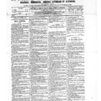 Le Journal de l'arrondissement de Valognes, numéro du 21 février 1879