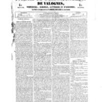 Le Journal de l'arrondissement de Valognes, numéro du 20 octobre 1854