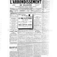 Le Journal de l'arrondissement de Valognes, numéro du 27 juillet 1935