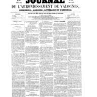 Le Journal de l'arrondissement de Valognes, numéro du 02 juillet 1858