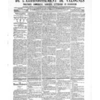 Le Journal de l'arrondissement de Valognes, numéro du 27 octobre 1905