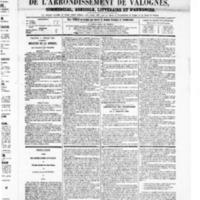 Le Journal de l'arrondissement de Valognes, numéro du 05 juillet 1867